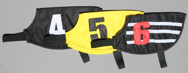 Renndecken Aiolos 6er Set Windhunderennen Decken Racing Jackets